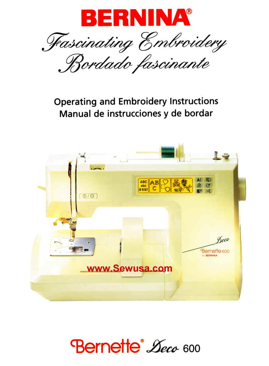 bernina sewing machine instruction manual