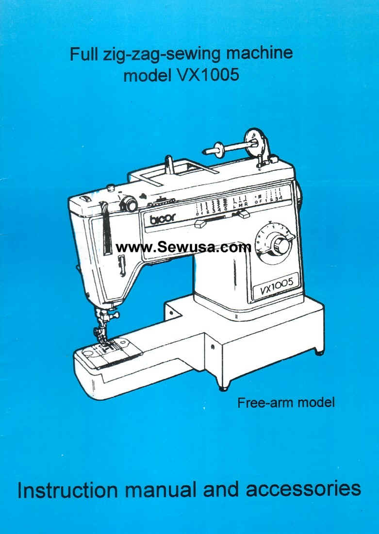 how to thread a bicor vx1005 sewing machine