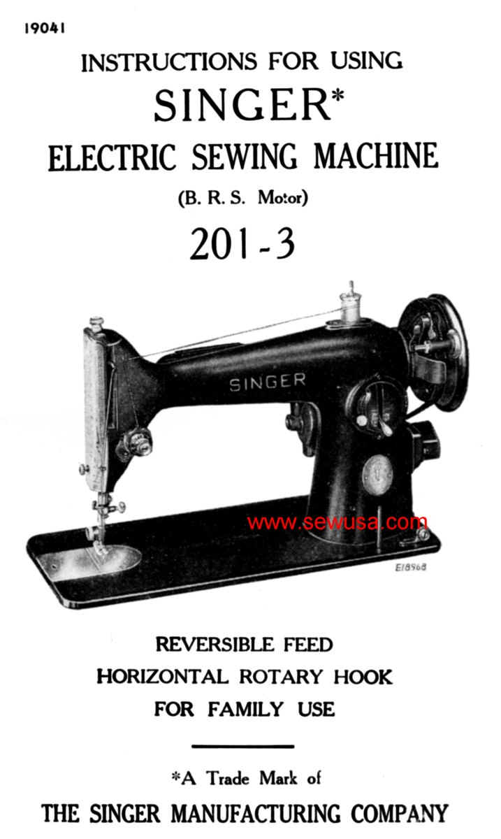 singer sewing machine repair manual