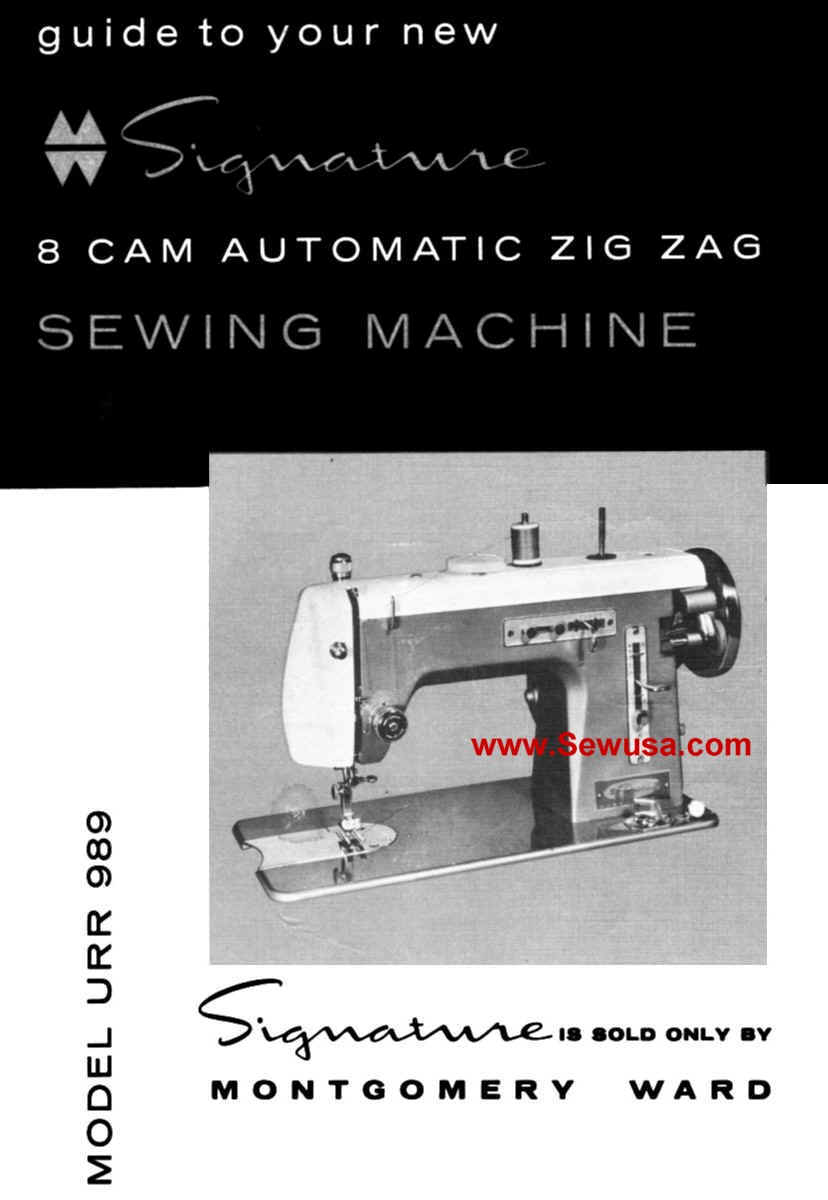 Vintage Manual for Montgomery Ward Zig Zag Sewing Machine Model